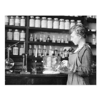 Woman Chemist, 1919 Postcard
