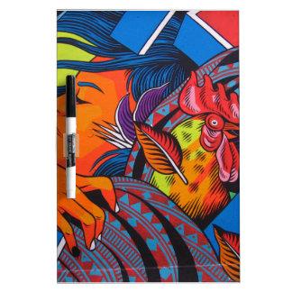 Woman & Chicken Wall Mural Dry Erase Board
