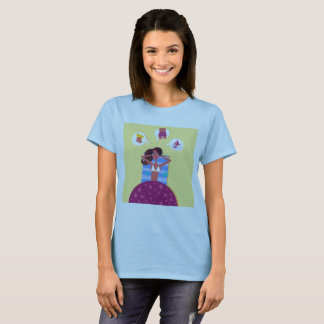 Woman creative t-shirt with Original illustration