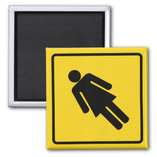 Woman Crossing Zone Magnet