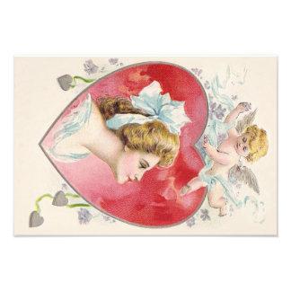 Woman Cupid Heart Daisy Photograph