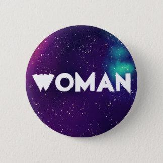 Woman Customizable Galaxy Identity 2 Inch Round Button