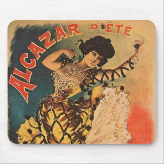 Woman Dancer Alcazar La Belle Otero Art Nouveau Mouse Pad