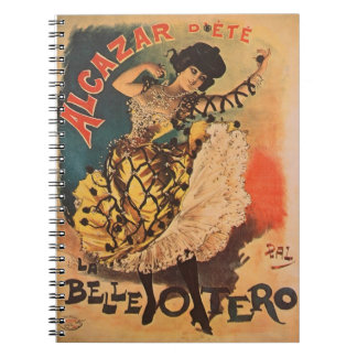 Woman Dancer Alcazar La Belle Otero Art Nouveau Note Books