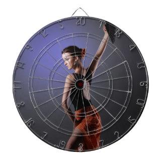 woman dart board