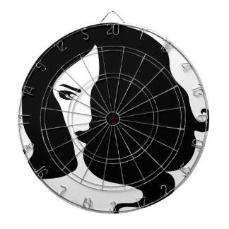 woman dartboard