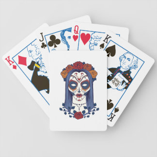 Woman Day of the Dead Bicycle Playing Cards