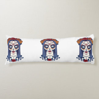 Woman Day of the Dead Body Pillow