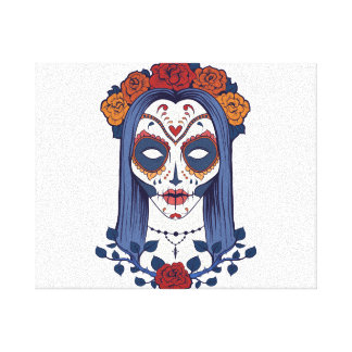 Woman Day of the Dead Canvas Print