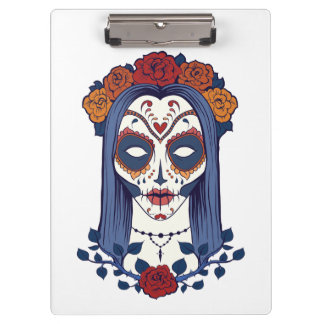 Woman Day of the Dead Clipboard