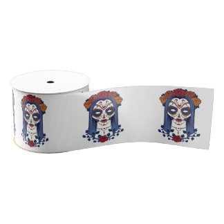 Woman Day of the Dead Grosgrain Ribbon