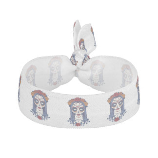 Woman Day of the Dead Hair Tie