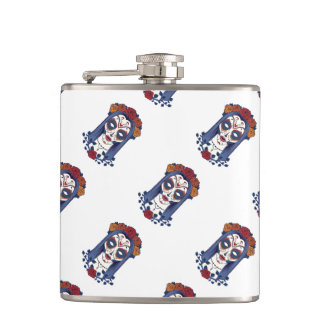 Woman Day of the Dead Hip Flask