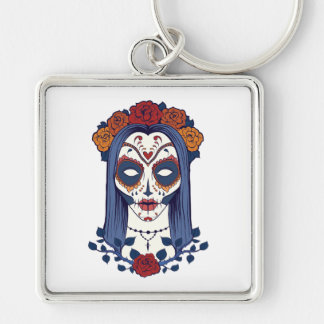 Woman Day of the Dead Keychain