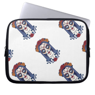 Woman Day of the Dead Laptop Sleeve