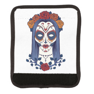 Woman Day of the Dead Luggage Handle Wrap