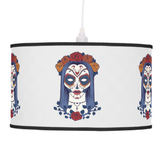 Woman Day of the Dead Pendant Lamp
