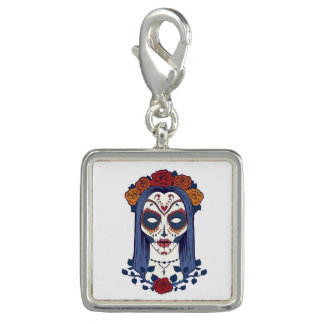 Woman Day of the Dead Photo Charms