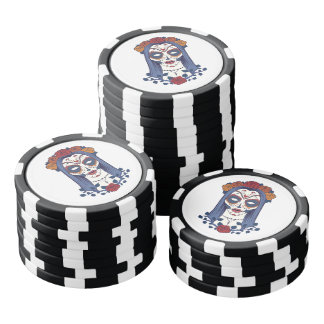 Woman Day of the Dead Poker Chips