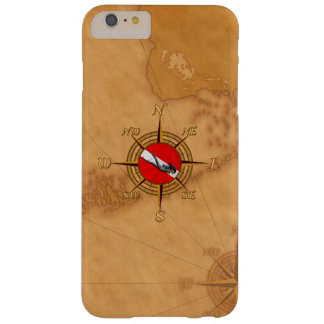 Woman Diver And Compass Barely There iPhone 6 Plus Case