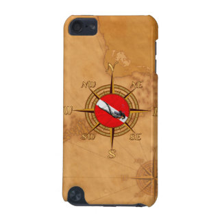 Woman Diver And Compass iPod Touch (5th Generation) Cases