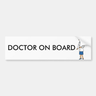 Woman Doctor Bumper Sticker