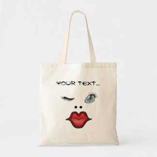 woman doing gestures tote bag