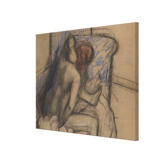 Woman Drying Her Hair Canvas Print