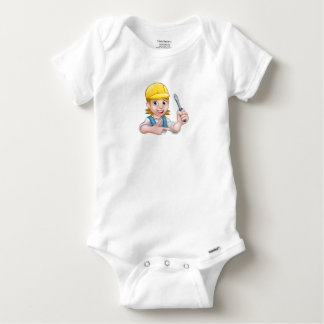 Woman Electrician Holding Screwdriver Baby Onesie