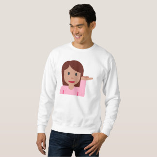 woman emoji mens sweatshirt