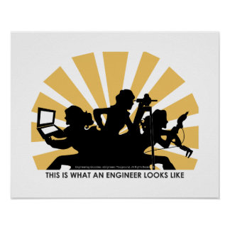 Woman engineer poster: This is what we look like Poster