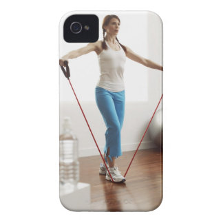 Woman Exercising iPhone 4 Cases