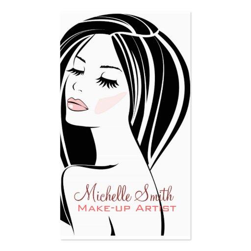 Woman face Makeup artist business card