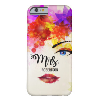 Woman Face Watercolor for Mrs. iPhone 6/6s Case