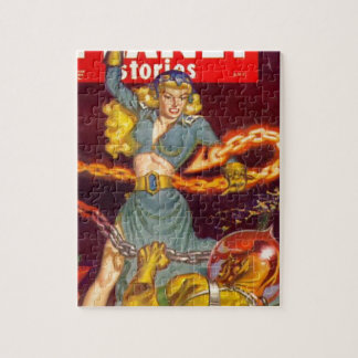 Woman Fighting Monster Puzzles