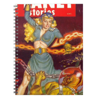 Woman Fighting Monster Spiral Note Book