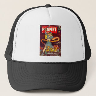 Woman Fighting Monster Trucker Hat