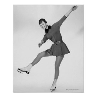Woman Figure Skating Poster