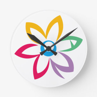 WOMAN FLOWER ROUND CLOCK