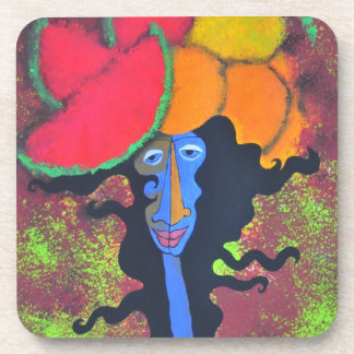 Woman&fruit  coasters