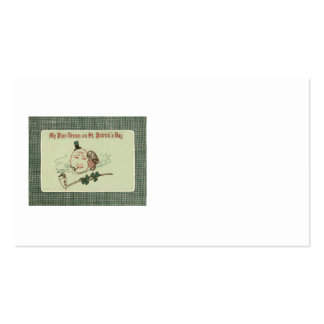 Woman Full Moon Shamrock Clay Pipe Business Card