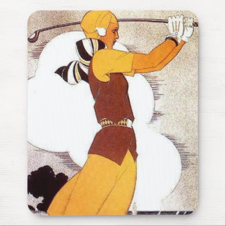 Woman Golfer Mouse Pad
