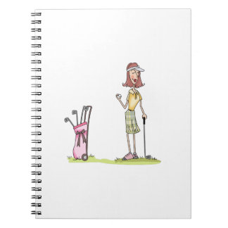 Woman Golfer Notebooks
