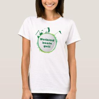 """Woman Golfer """"Nothing Beats Golf"""" T-Shirt"""