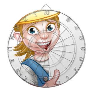 Woman Handyman Carpenter Mechanic or Plumber Dart Board