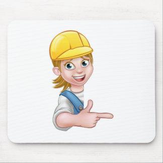 Woman Handyman Carpenter Mechanic or Plumber Mouse Pad