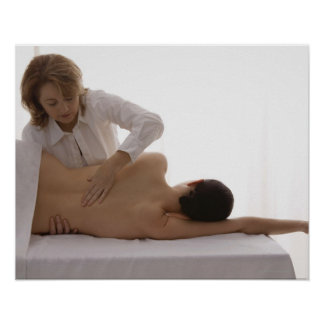 Woman having a massage poster