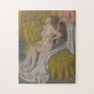 Woman Having Her Hair Combed Jigsaw Puzzle