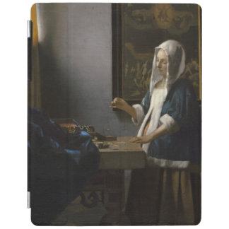 Woman Holding a Balance by Johannes Vermeer iPad Cover