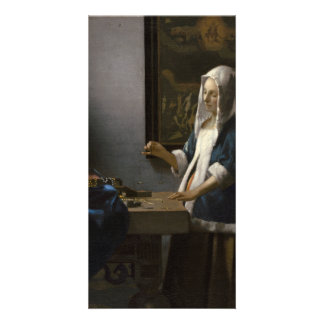 Woman Holding a Balance by Johannes Vermeer Photo Cards